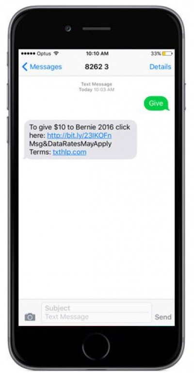 SMS donations
