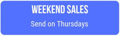 Weekend sales time
